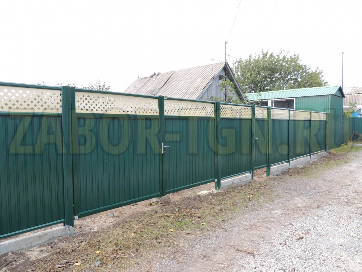 Купить забор в таганроге самые популярные ворота для дачи