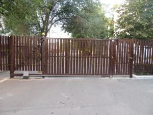 Откатные ворота + калитка ( заполнение штакетник )  Таганрог 2017г.